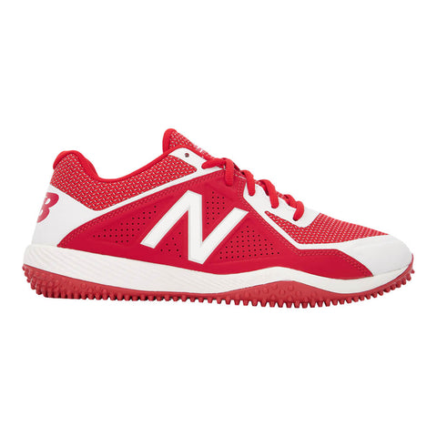NEW BALANCE MEN'S 4040 WIDTH D BASEBALL TURF CLEAT RED/WHITE