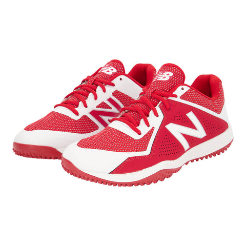 NEW BALANCE MEN'S 4040 WIDTH 2E BASEBALL TURF CLEAT RED/WHITE