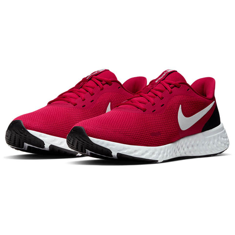 NIKE MEN'S REVOLUTION 5 RUNNING SHOE GYM RED/WHITE/BLACK