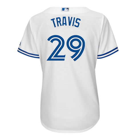 MAJESTIC WOMEN'S TORONTO BLUE JAYS HOME TRAVIS JERSEY WHITE