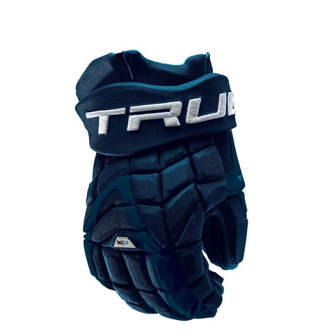 TRUE XC5 JR HOCKEY GLOVES 12 INCH NAVY