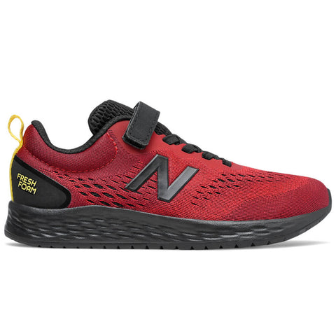 NEW BALANCE BOYS GRADE SCHOOL/PRE-SCHOOL FRESH FOAM ARISHI V3 KIDS SHOE RED/BLACK