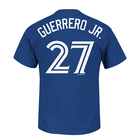 MAJESTIC MEN'S TORONTO BLUE JAYS GUERRERO JR SHORT SLEEVE PLAYERS TOP BLUE