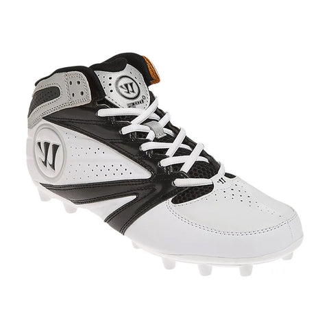 WARRIOR SPORTS 2ND DEGREE 3.0 BLACK/WHITE LACROSSE CLEAT