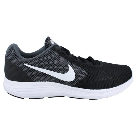 NIKE WOMEN'S REVOLUTION 3 (WIDE) RUNNING SHOE DARK GREY/WHITE/BLACK