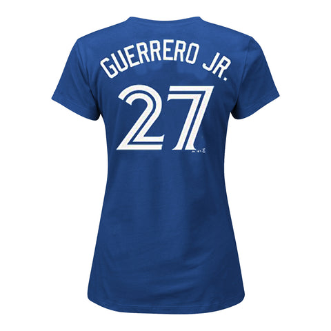 MAJESTIC WOMEN'S TORONTO BLUE JAYS GUERRERO JR SHORT SLEEVE PLAYERS TOP BLUE