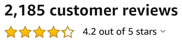 Amazon rating 4.2