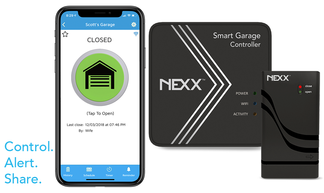 nxg200 nxg-200 nexx smart garage controller wifi door remote opener