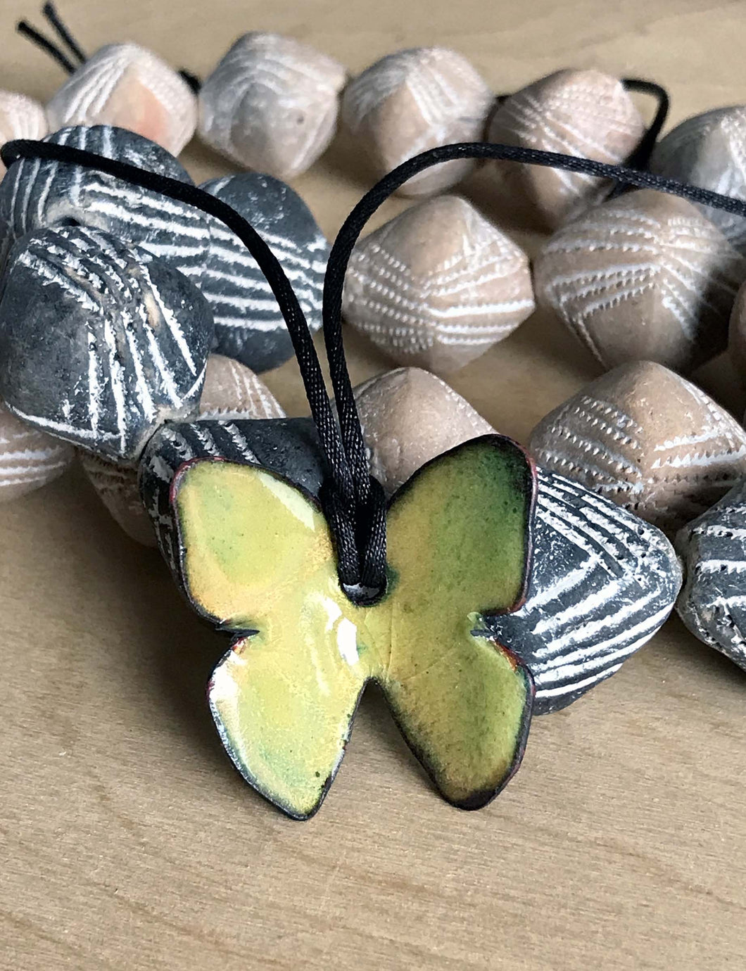 Light Yellow Butterfly Pendant