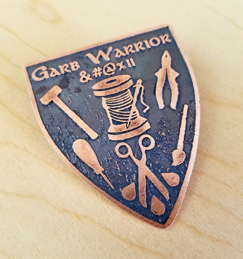 Garb Warrior Medallion Pin