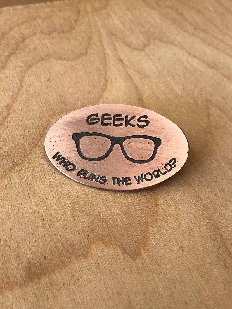 Geeks Medallion Pin