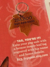 Maple Leaf Pet Tags