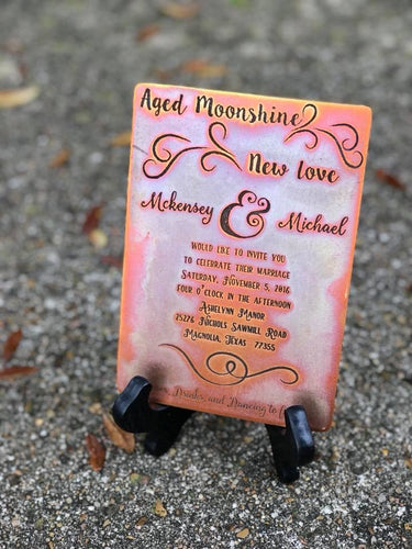 Colorful Custom Keepsake Invitation