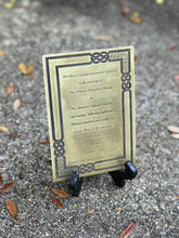 Custom Keepsake Invitation Brass