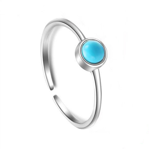 Slim and Beautiful Silver and Turquoise Ring