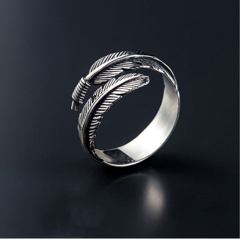 Vintage Silver Feather Ring