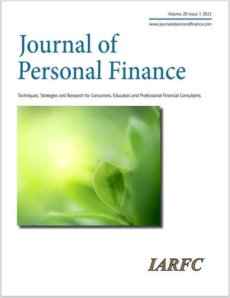 Journal of Personal Finance, Volume 20 Issue 1, 2021