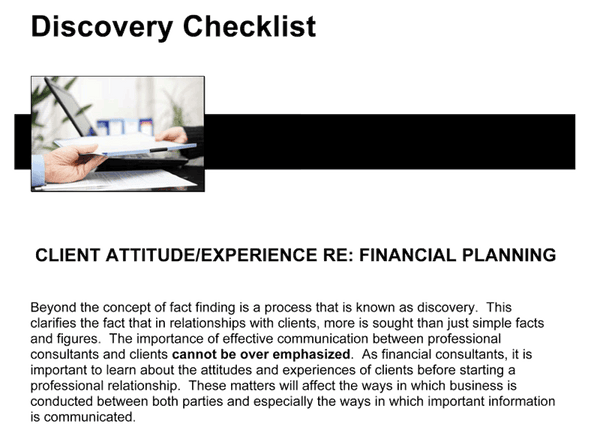 Discovery Checklist Client