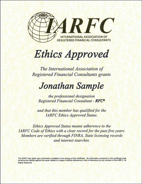 Ethics Approved Certificate
