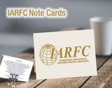 IARFC Note Card: Classic Linen Natural White (cream) w/gold foil imprint, black text on back SG110