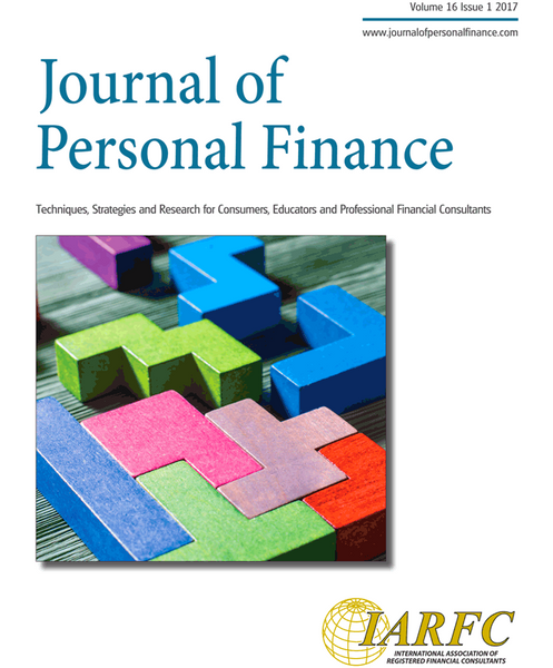 Journal of Personal Finance, Volume 16 Issue 1, 2017