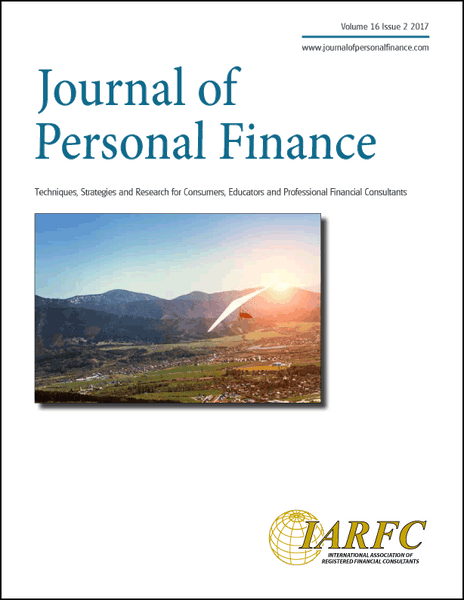 Journal of Personal Finance, Volume 16 Issue 2, 2017