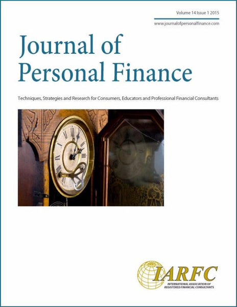 Journal of Personal Finance, Volume 14 Issue 1, 2015
