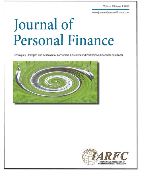 Journal of Personal Finance, Volume 18 Issue 1, 2019