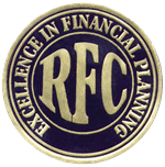 RFC Excellence in Financial Planning seal
