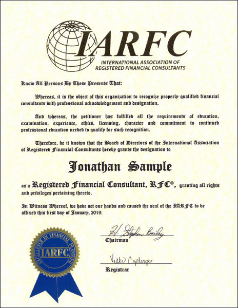 Confirmation Notice RFC (small certificate)