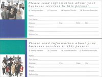 Business Information Request Card, SG105