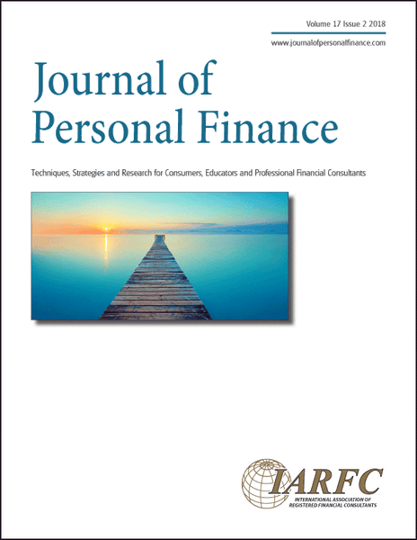 Journal of Personal Finance, Volume 17 Issue 2, 2018