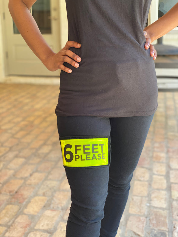 6ft Please—Reflective armband w/hidden pocket— LARGE