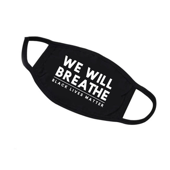 Modal Antibacterial face mask —We Will Breathe BLACK Lives Matter