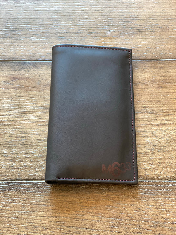 M633 Genuine Chocolate brown Leather wallet (large)