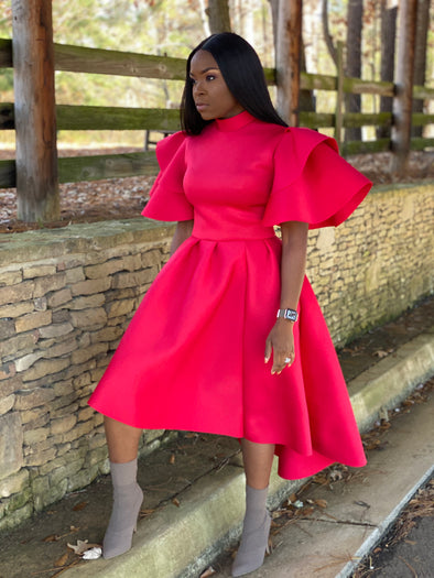 "The ""Ebony"" Dress - Red"