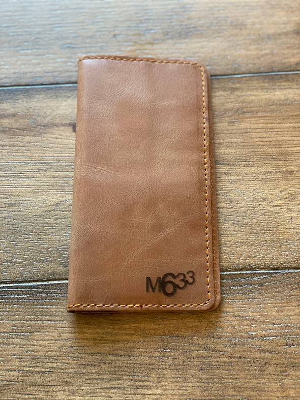M633 Genuine Tan Leather wallet (large)