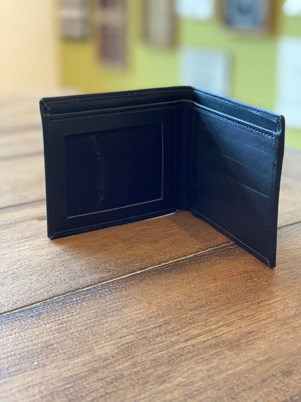 M633 Genuine Black Leather wallet (small)