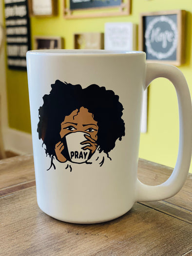 Wake Pray Slay 12 oz coffee mug with custom artwork