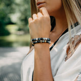 Women's Beaded Bracelet | Agate, Labradorite, Sapphire Gemstones - GT collection