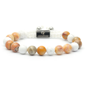Women's Beaded Bracelet - Labradorite, Howlite Gemstones - GT collection