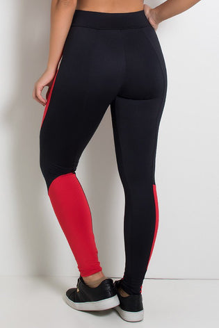Rider Pants Two Colors (Black with Red)