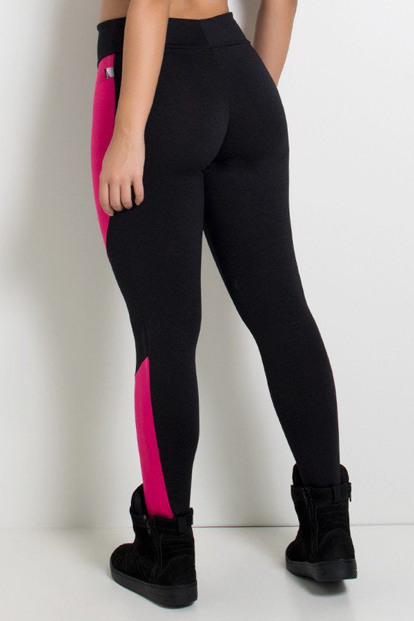 Jessica Two Color Pants (Black / Pink)