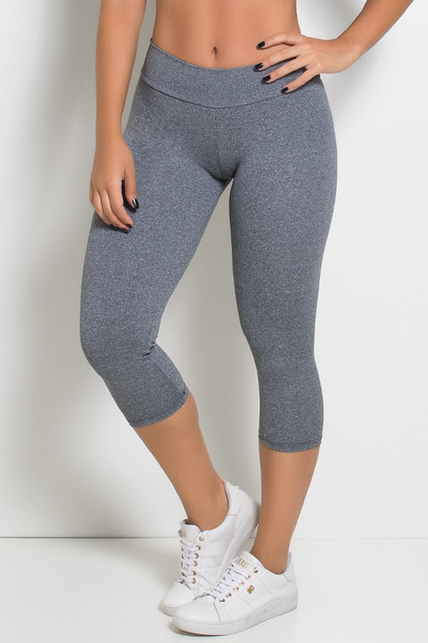Grey Mix Capri