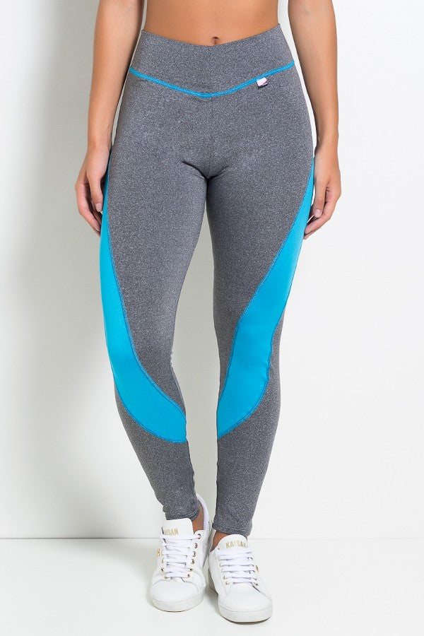 Grey and blue leggings