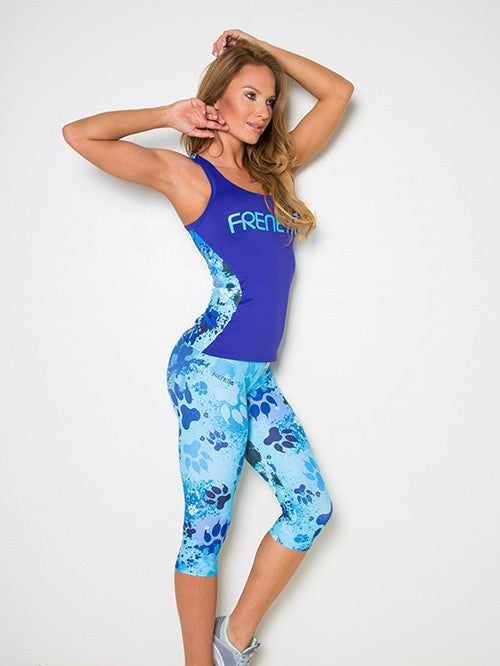 Blue Paw Capri Leggings