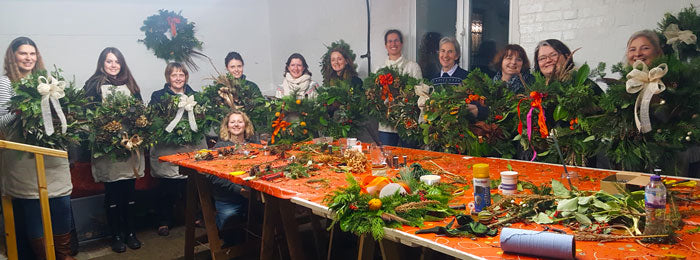 happy wreath makers from last year