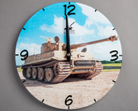 Tiger 131 tank wall clock round