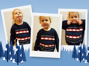 Kids Tank Museum Christmas Sweater