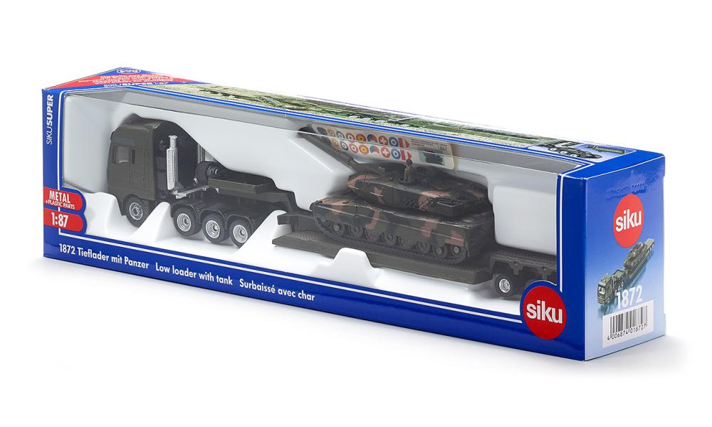 Siku Low Loader with Tank 1:87 - The Tank Museum